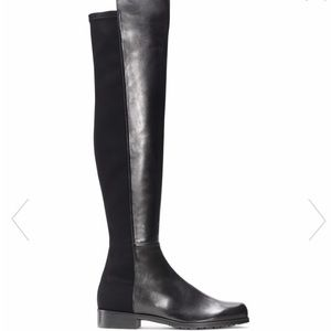 Stuart Weitzman 5050 boot black leather size 8